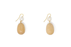 Sophie Monet Pearl Egg Earrings