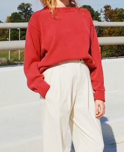 VINTAGE FADED TOMATO SWEATER