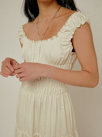Lisa Says Gah Agatha Midi Dress / Available in Ivory