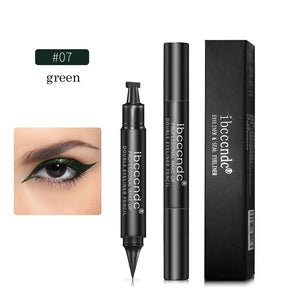 IBCCCNDC Brand Makeup Black Eye Liner Liquid Pencil Quick Dry Waterproof Black Double-ended Makeup Stamps Wing Eyeliner Pencil