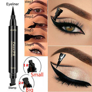 CmaaDu Liquid Eyeliner Pencil Super Waterproof Black Double-Headed Stamps Eye liner Eye maquiagem Cosmetic Makeup Tool TSLM1