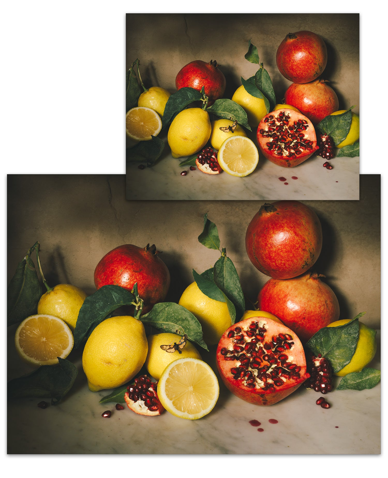 Lemons and Pomegranates Small Poster