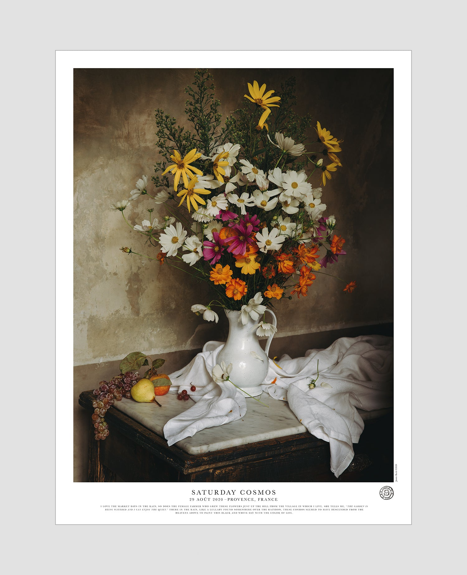 Still Life with Saturday Cosmos Poster