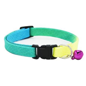 Dog Collar Adjustable Bell Necklace (6 random colors)