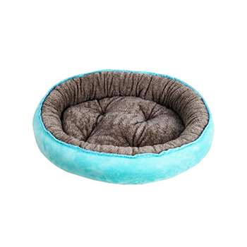 Washable Warming Dog Bed in Lake Blue (Medium)