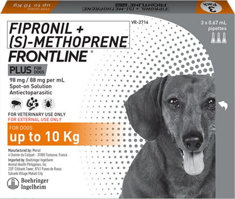 FRONTLINE PLUS for Dogs up to 10kg (1 pipette)