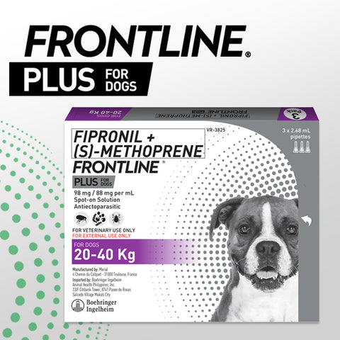 FRONTLINE PLUS for Dogs 20-40KG (3pcs/box)