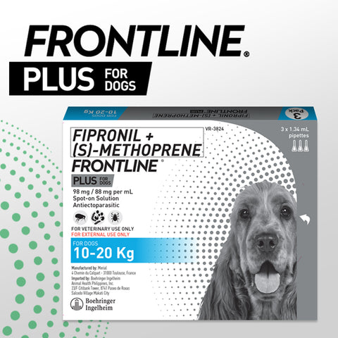 FRONTLINE PLUS for Dogs 10-20KG (3pcs/box)