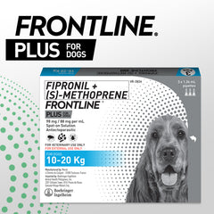 FRONTLINE PLUS for Dogs 10-20KG (1 pipette)