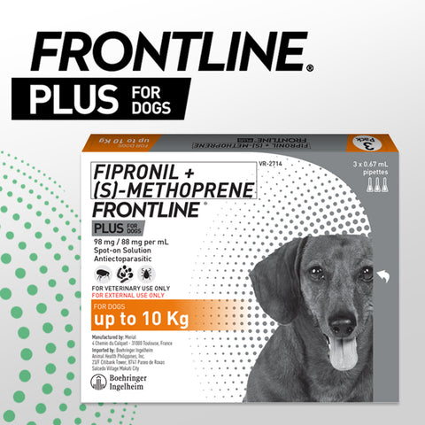 FRONTLINE PLUS for Dogs up to 10kg (3 pcs/box)