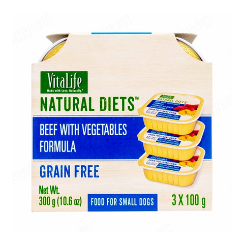 VitaLife Natural Diets Beef with Vegetable Formula 100g (Pack of 3)