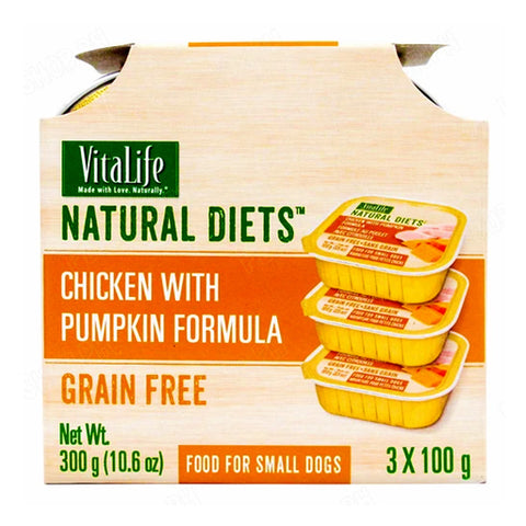 VitaLife Natural Diets Chicken with Pumpkin Formula 100g (Pack of 3)