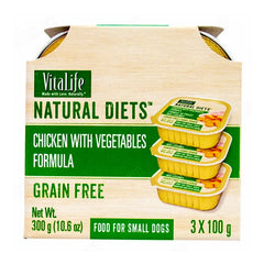 VitaLife Natural Diets Chicken with Vegetables Formula 100g (Pack of 3)