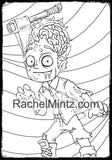 Large Print Costumes Party Coloring Book - Bold Lines, Easy Coloring For Halloween (Printable Format)