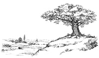 Trees - Forests, Woods & Lonely Tree Landscapes, 44 Artist's Drawings PDF Coloring Book