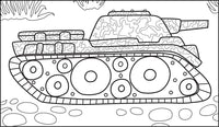 Armored Tanks - Military Theme, PDF Coloring Book For Kids