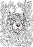 Animals Nirvana - Color Relaxing & Detailed Patterns of Wild Animals - Printable Format Book