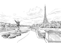 Backpacking Europe - Famous Urban Landscapes Coloring Book - European Monuments Rachel Mintz