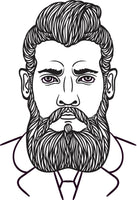 Just Beards - Coloring Book - Bearded Men, Hipsters, Guys, Men Portraits Rachel Mintz