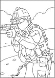 Black Ops - Military Coloring Book - American Special Forces In Action