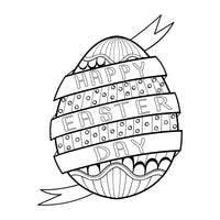 Bunny & Eggs - Easter, PDF Coloring Book For Kids
