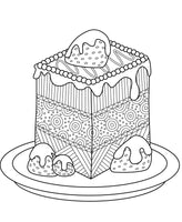 Chocolate Party - Sweets, Cakes, Ice Cream Desserts & Candy, PDF Coloring Book
