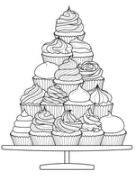 Chocolate Party - Sweets, Cakes, Ice Cream Desserts & Candy Coloring Book Rachel Mintz