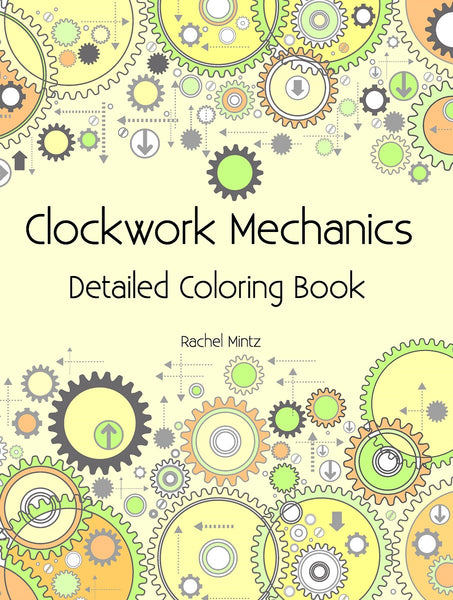 Clockwork Mechanics - Machine Cogwheels Technical Patterns, 3D Parts Blueprints - PDF Book