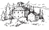 Countryside Houses - Coloring Book For Adults - Grayscale 50 Pastoral Village Landscape Sketches Rachel Mintz