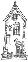Creative Houses - Detailed Architecture Buildings Patterns, PDF Coloring Book