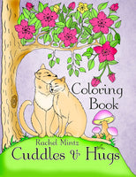 Cuddles & Hugs - Lovely Optimistic Floral Scenes Fairies and Animals, Printable Coloring Book