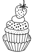 Cupcakes Party - Sweet, PDF Coloring Book With 30 Decorated Yummy Cakes