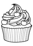 Cupcakes Party - Sweet Coloring Book With 30 Decorated Yummy Cakes