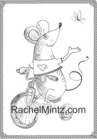 Cutesy Bunch - Cute Happy Friendly Animals, Grayscale Coloring Book (Printable Format)