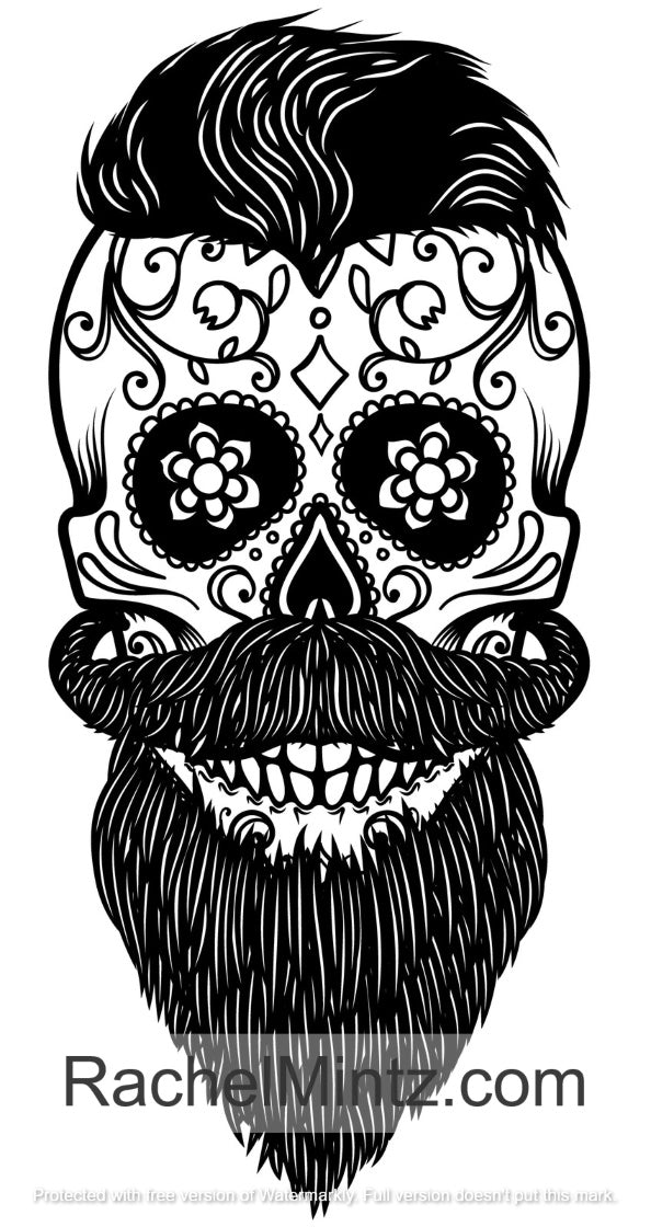 Day Of The Dead - Sugar Skulls, PDF Coloring Book – Rachel Mintz Coloring  Books