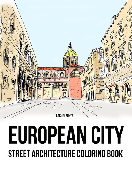Deep Perspective - City Buildings & Public Places in 3D Perspective View, Urban Architecture PDF Coloring Book