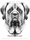 30 Dog Portraits - Woof-Woof Buddy - Grayscale Coloring Book