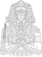 Faces & Places - Detailed Cultures – Native Indians, Japanese, Kings of Egypt, Coloring Book