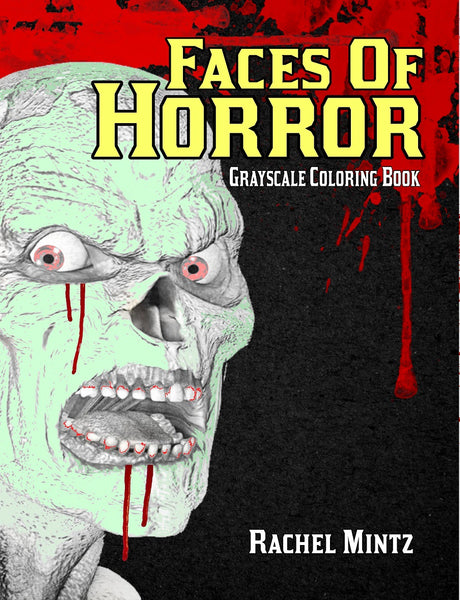 Faces of Horror - Grayscale Monsters, Zombies, Mutants, Demons - PDF Coloring Book