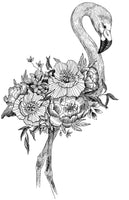 Flamingos, PDF Coloring Book - Enjoy Romantic Decorative Pages