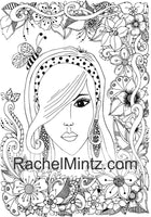 Floral & Beauty Anti Stress Relaxation Coloring For Adults - Digital Coloring Book