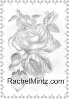 Flowers - Vintage Grayscale Art With 33 Floral Designs and Garden Flowers (Digital Coloring Book) Rachel Mintz