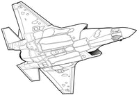 Flying War Machines - Fighter Jets Coloring Book