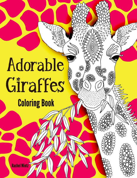 Adorable Giraffes Coloring Book - Cute Giraffes in Mandala Patterns