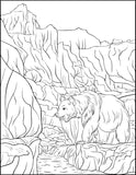 Great Outdoors Landscapes Coloring Book: Wild Nature, Grand Canyon, Mountains, Desert Wilderness and Wildlife Rachel Mintz