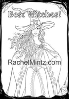 Halloween - Cute Witches, Pumpkins & Haunted Houses (PDF Format) Coloring Book for Adults