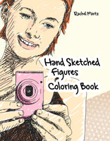 Hand Sketched Figures - Casual Scenes Art To Color (PDF Book)