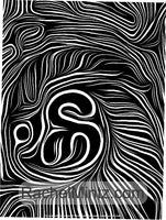 Heartbeat Batik - Abstract Large Print Coloring Book With High Contrast Swirl Patterns for Relaxation, Digital PDF Book