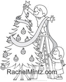 Jolly Christmas - Santa Claus, Snow Man, Christmas Trees, Rudolph the Reindeer (PDF Coloring Book)