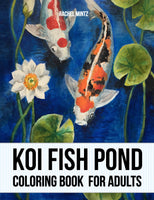 Koi Fish Pond - Japanese Gold Fish Coloring Book For Adults